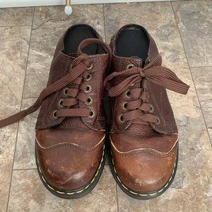 Dr martens leather clogs